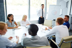 Discussion during presentation Stock Images