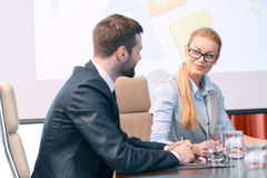 Discussion of the presentation Royalty Free Stock Image