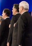 Discussion présidentielle républicaine 2012 de CNN Photo libre de droits