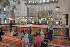 Discussion on religion at blue Mosque, Istanbul, Turkey Royalty Free Stock Image