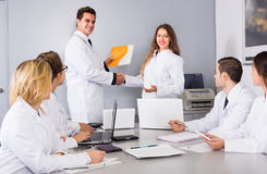 Discussion of research work Royalty Free Stock Image