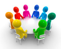 Discussion round table vector illustration
