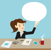 Discussion  speech bubble business. Cartoon Vector Illustration Stock Photo
