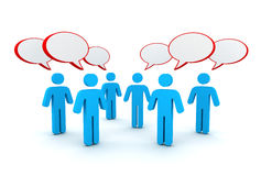 Discussion speech bubbles concept 3d illustration Royalty Free Stock Photo