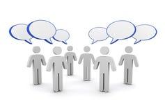 Discussion speech bubbles concept  3d illustration Stock Photos