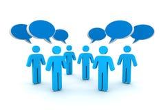 Discussion speech bubbles concept  3d illustration Royalty Free Stock Photos