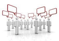 Discussion speech bubbles concept  3d illustration Stock Image