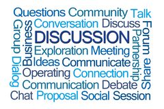 Discussion Word Cloud royalty free stock photo