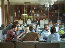 Discussion at workplace Stock Photos