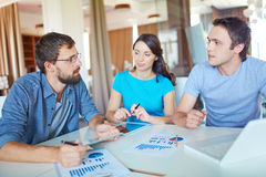 Discussion of workteam Royalty Free Stock Photo