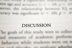 Discussione Fotografia Stock