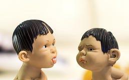 Discussione dei bambini Immagini Stock