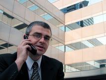 Discussione del telefono Immagine Stock