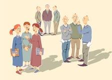 Discussione della gente Immagine Stock