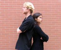 Discussione delle coppie Fotografia Stock
