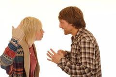 Discussione delle coppie Fotografia Stock Libera da Diritti