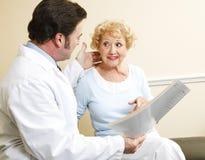 Discussione delle opzioni pazienti di trattamento immagine stock libera da diritti