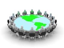 Discussione di tavola rotonda Fotografie Stock Libere da Diritti