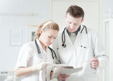 Discussione medica Immagini Stock