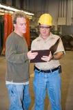 Discussione sul pavimento della fabbrica Fotografia Stock