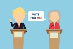 Discussions sur l'élection illustration de vecteur