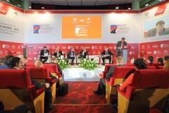 Discussions sur le congrès international Photos libres de droits