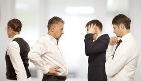 Discutant, conflit, concept d'affaires Image libre de droits