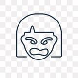 Discutant l'icône de vecteur d'isolement sur le fond transparent, A linéaire illustration de vecteur