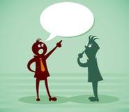 Discutez un problème illustration de vecteur
