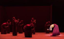 Discutiendo ` de Cangyangjiacuo de las escrituras- del drama budista de la danza `` Foto de archivo