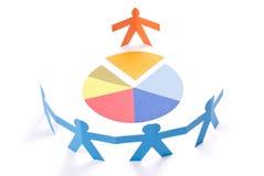Discutindo, conceito do encontro ou da negociação Imagens de Stock Royalty Free