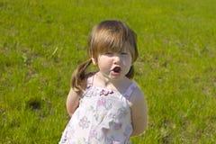 Discutindo a menina Fotos de Stock Royalty Free