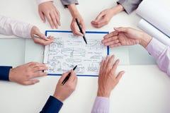 Discutindo o projeto start-up Foto de Stock Royalty Free