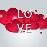 Diseñado para el día de tarjeta del día de San Valentín Imagen de archivo libre de regalías