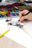 Diseñador de moda Imagen de archivo libre de regalías