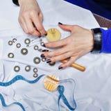 Diseñador de moda en el trabajo Imagen de archivo libre de regalías