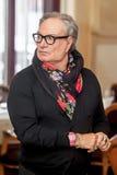 Diseñador de moda Rocco Barocco en la primera jornada de la primera tienda de la mono-marca en Rusia Imagen de archivo