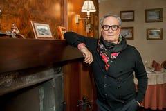 Diseñador de moda Rocco Barocco en la primera jornada de la primera tienda de la mono-marca en Rusia Imagenes de archivo
