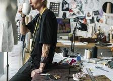 Diseñador de moda Stylish Showroom Concept foto de archivo libre de regalías