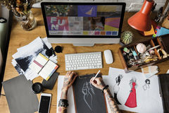 Diseñador de moda Stylish Showroom Concept imágenes de archivo libres de regalías