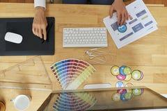 Diseñador gráfico en el trabajo fotografía de archivo libre de regalías