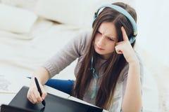 Diseñador moderno del adolescente Imagenes de archivo