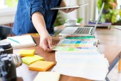 Diseñador Select Color Chart Foto de archivo libre de regalías