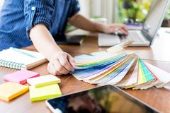 Diseñador Select Color Chart Foto de archivo