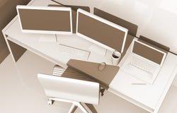 Diseñador Workstation Concept Fotografía de archivo