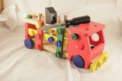 Diseñador y herramientas del coche del juguete imagen de archivo libre de regalías