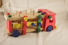 Diseñador y herramientas del coche del juguete Foto de archivo