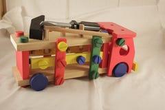 Diseñador y herramientas del coche del juguete Imagenes de archivo
