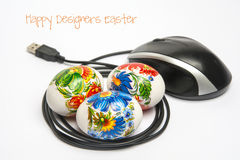 Diseñadores felices Pascua Imágenes de archivo libres de regalías