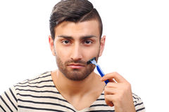 Diseñar la barba Imagen de archivo libre de regalías